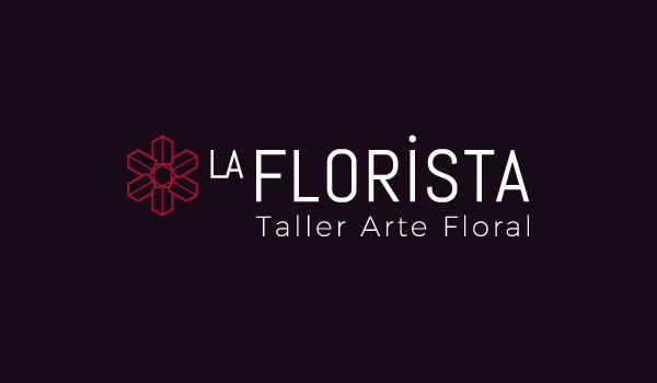 La Florista Logo over dark background