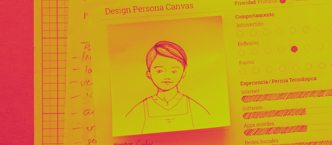 Design Persona Canvas, sketch del usuario