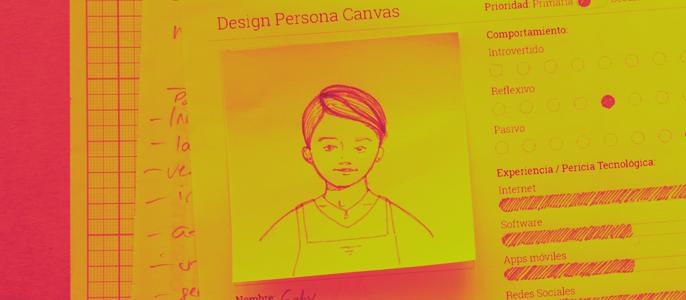 Design Persona Canvas, sketch del usuario
